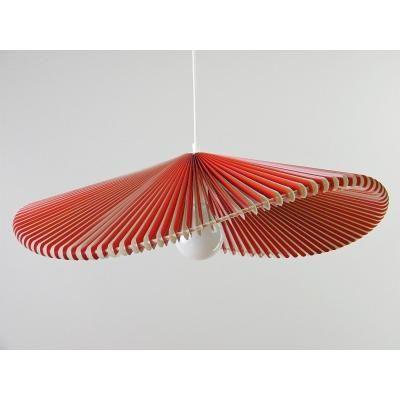 Exkluzív függesztett mennyezeti lámpa, hullámvonalú, piros-fehér  - ONDES